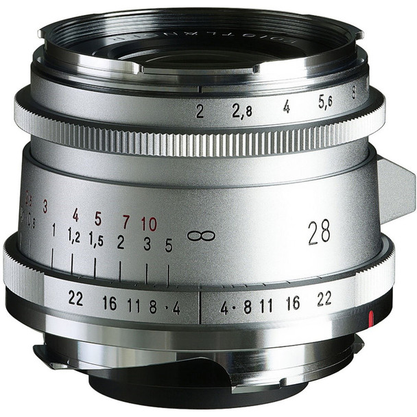 Voigtlander ULTRON Vintage Line 28mm f/2 Aspherical VM Type II (Silver/Chrome)