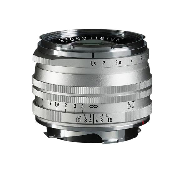 Voigtlander NOKTON Vintage Line 50mm f/1.5 Aspherical II MC Lens (Silver) - Leica M Mount OBS