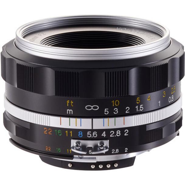 Voigtlander 40mm f/2 Ultron SL-IIs ASPH Lens (Silver Rim) - Nikon F Mount
