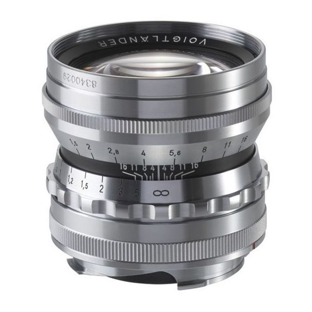 Voigtlander 50mm f1.5 Nokton Asph Lens (Silver/Chrome) - Leica M Mount