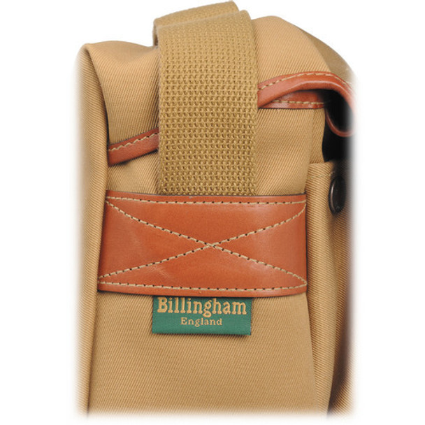 Billingham Hadley Small Khaki Canvas Shoulder Bag with Tan Leather Trim