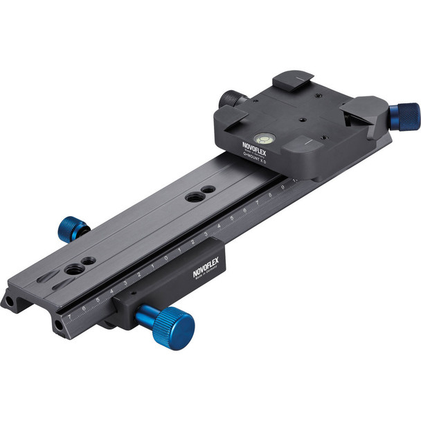 Novoflex CASTEL XQ II Focusing Rack with 90 degree Cross Mounting and Arca Size Dovetail Clamping System. Usually ships in 7 to 14 days.