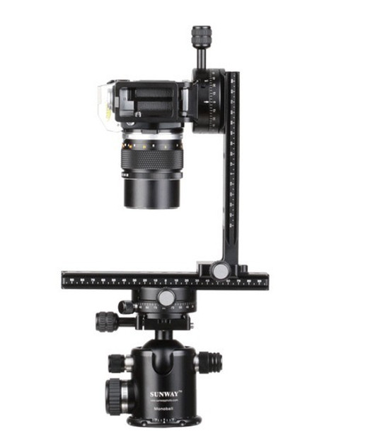 SunwayFoto DMC-200R Vertical Rail with Screw-knob Clamp