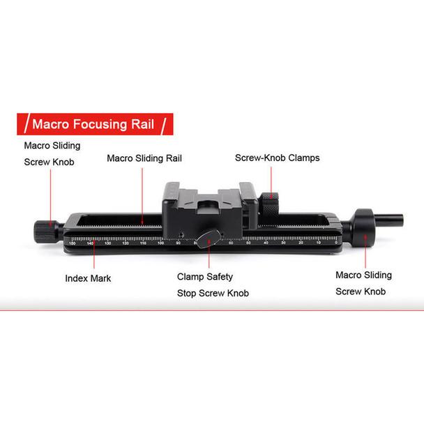 Sunwayfoto MFR-150S Macro Focusing Rail with Screw-Knob Clamp