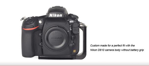 Sunwayfoto PNL-D810R Custom L Bracket for Nikon D810/D800 Cameras