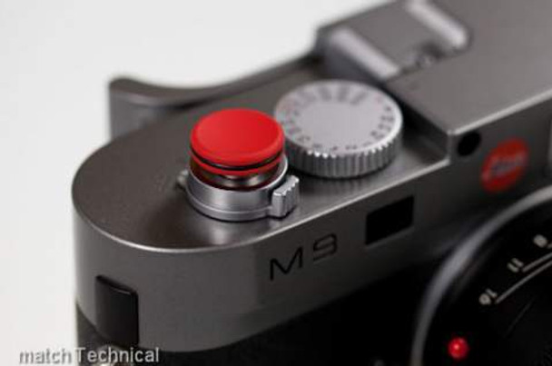 Thumbs Up Red Boop Concave Soft Release with O-Ring. Long Thread Version for M10, M9, M8 and older M cameras