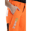 Hi-Vis Orange Zero Women's Chainsaw Pant - Zoom Side Pocket