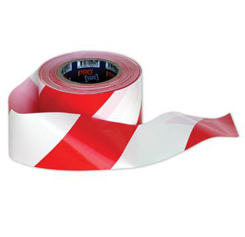 BARRICADE TAPE, RED AND WHITE. 100 METRE