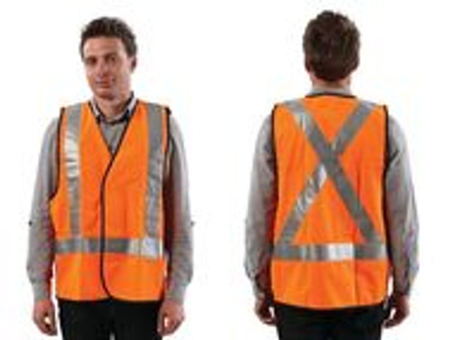 FLUORO ORANGE H BACK SAFTY VEST