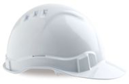 HARD HAT. 6 POINT HARNESS, VENTED AND A