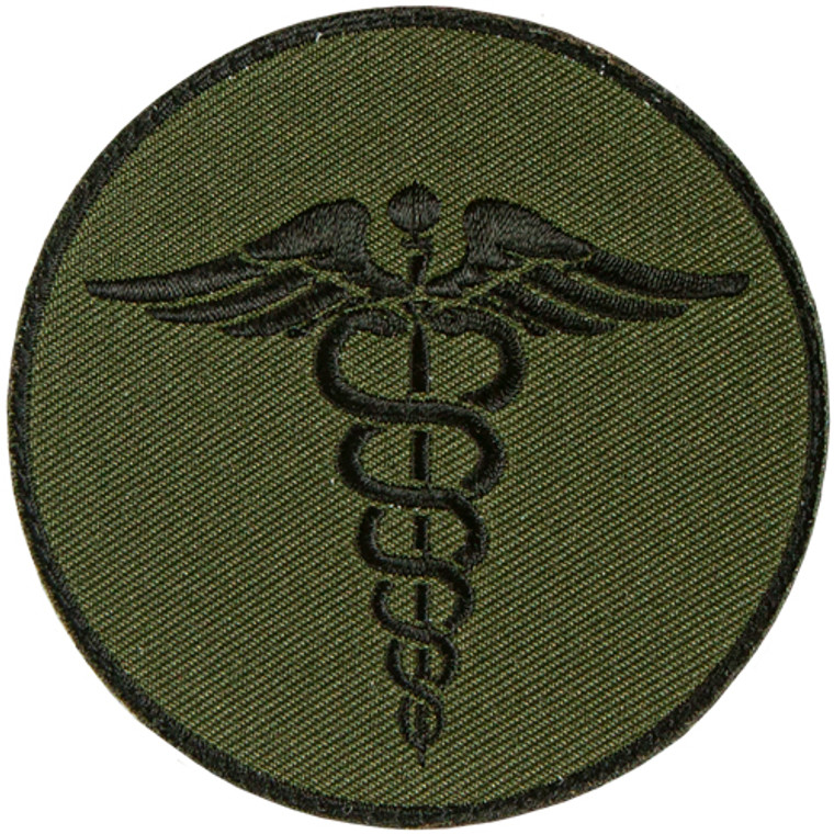 Medical/EMS Caduceus Round Patch