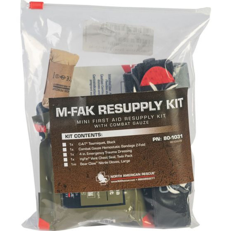 NAR M-FAK Resupply Kit, with Combat Gauze