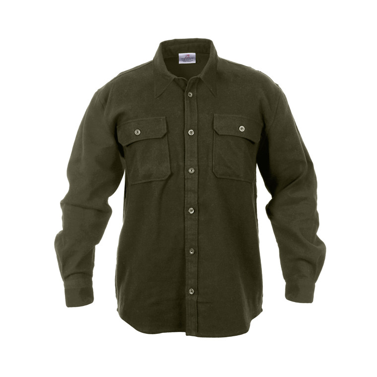 Rothco Heavyweight Solid Color Flannel Shirt