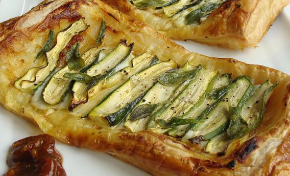Tamarind, Mozzarella & Zucchini Tarte