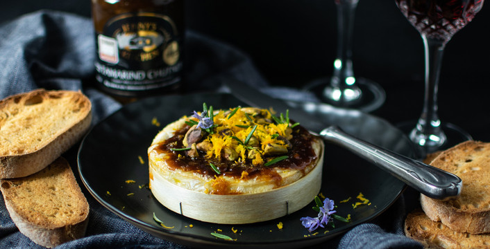 Tamarind and Orange Baked Camembert