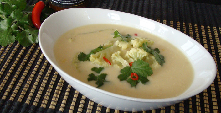 Thai Tamarind Coconut and Coriander Soup