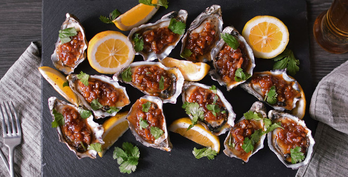 Tamarind and Bacon Oysters Kilpatrick