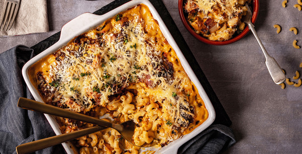 Mac n' Cheese with Bacon, Chicken & Tamarind