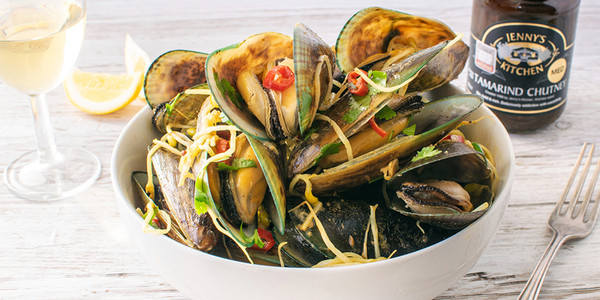 Tropical Tamarind Coconut Mussel Bowl