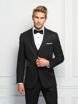 Michael Kors Ultra Slim Fit Black Sterling Wedding Suit Style J 471