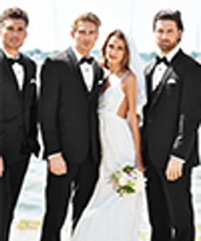 Michael Kors Black Sterling Wedding Suit Style J 472
