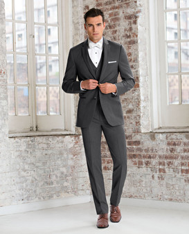 Michael Kors Ultra Slim Fit Steel Grey Sterling Wedding Suit Style J 391