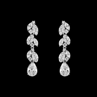 elegant cz teardrop earrings
