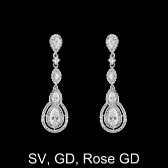 Jill CZ earrings ME 37631 $59