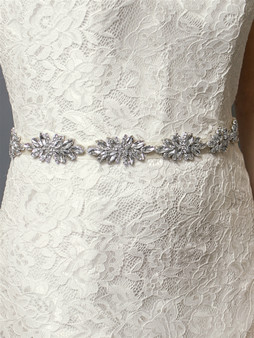 Stunning Crystal Marquis Clusters Silver Bridal Belt  4613BT $69