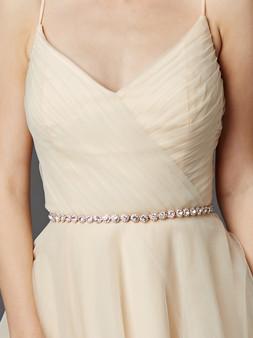 Bridal Belt with Genuine Preciosa Crystals 4464BT $69