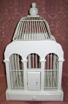 Chapel Birdcage Card Holder RENTAL