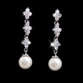 abg 3093 Pearl & Rhinestone Earring