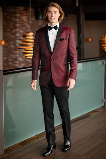 Apple Red Aries Paisley Tuxedo J 122