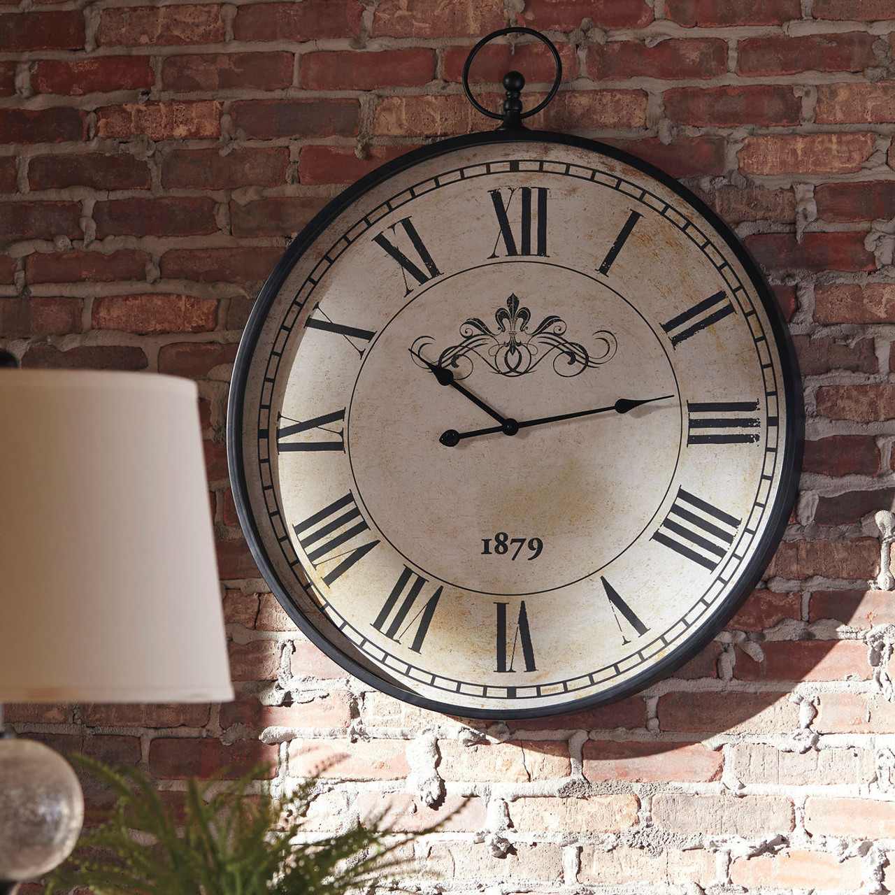 The Augustina Antique Black Wall Clock Available At Riley S Rooms Serving Tecumseh And Windsor On
