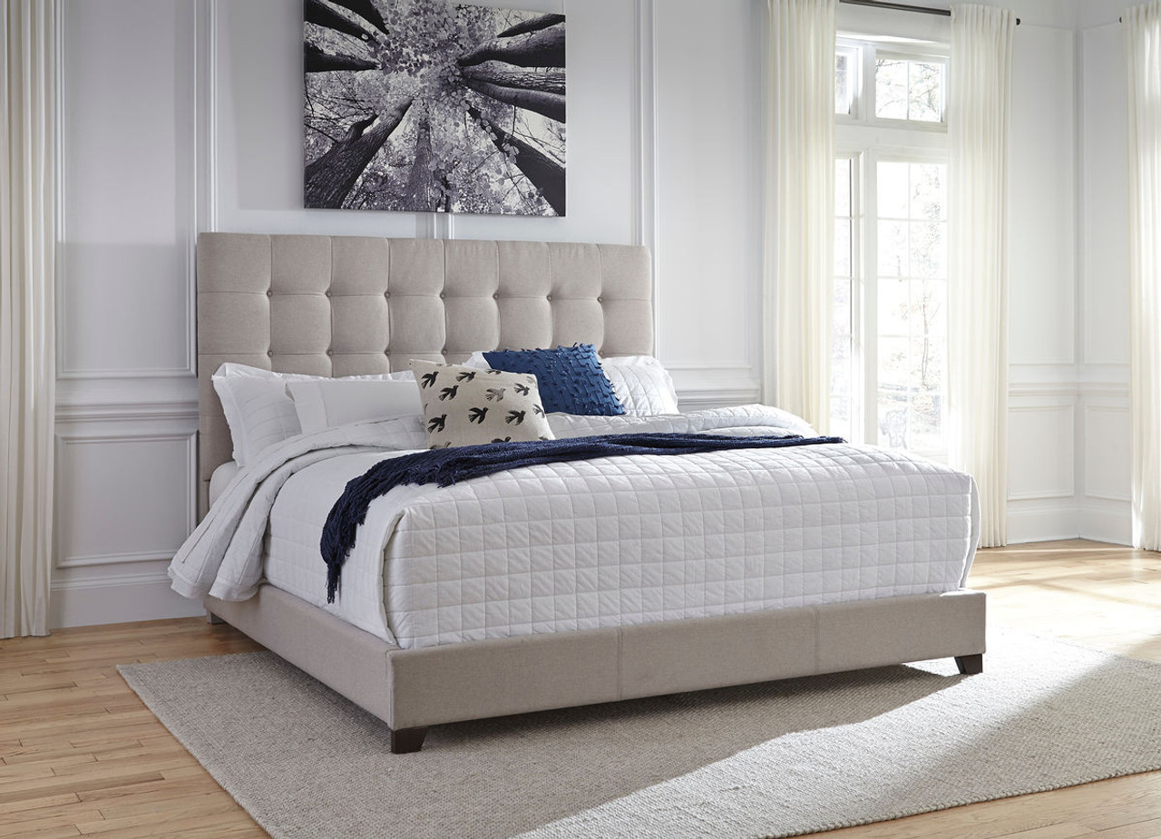 The Contemporary Upholstered Beds Beige King Upholstered Bed Available At Riley S Rooms Serving Tecumseh And Windsor On