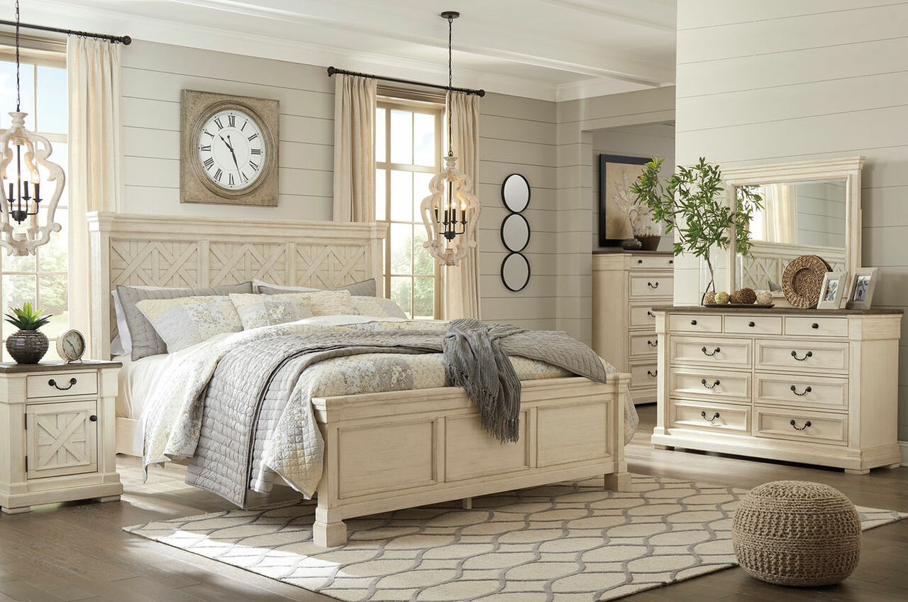 The Bolanburg Two-tone 6 Pc. Queen Panel Bedroom Collection available at Riley's Rooms serving Tecumseh and Windsor, ON.