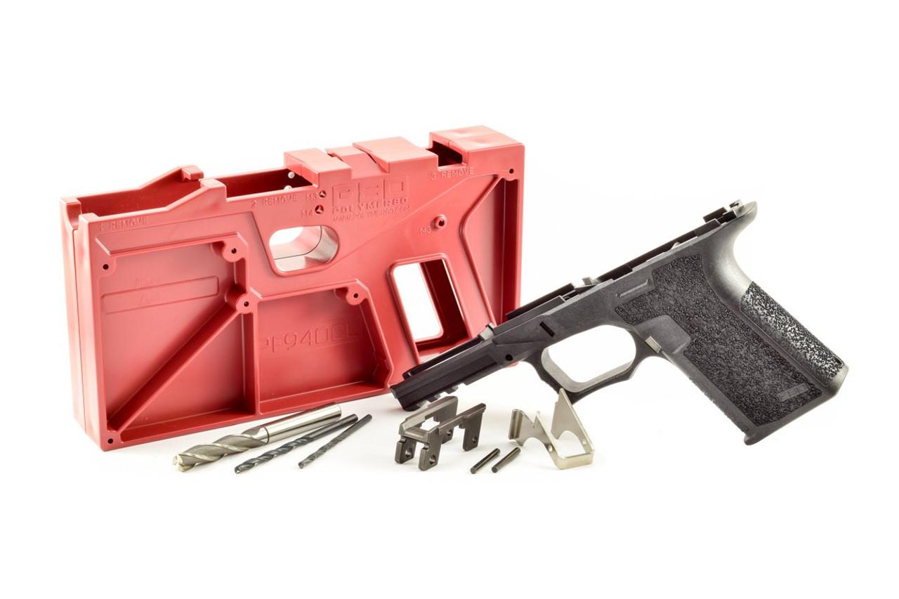 Package Deal Polymer80 PF940CL Compact Longslide 80% Pistol Frame Kit and 9mm OEM GLOCK® Lower Parts Kit