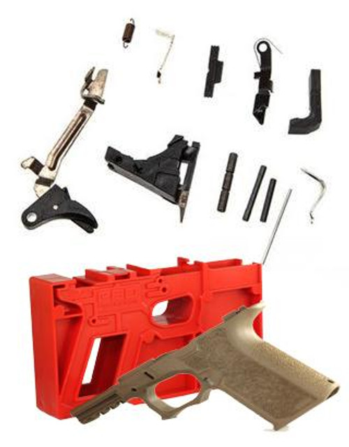 Package Deal Polymer80 PF940C Textured & OEM Glock Compact Lower Parts Kit 9mm
