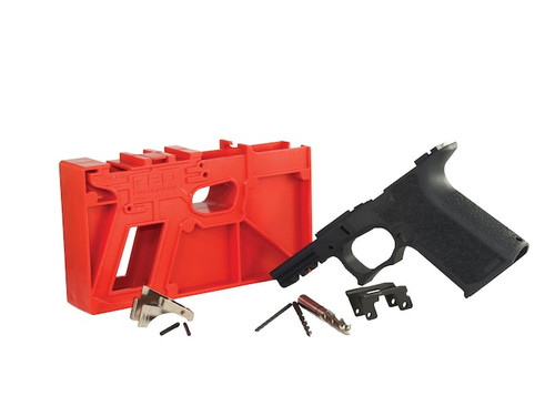 Package Deal Polymer80 PF940v2 Textured GLOCK® G17 Compatible & OEM Glock 9mm Lower Parts Kit