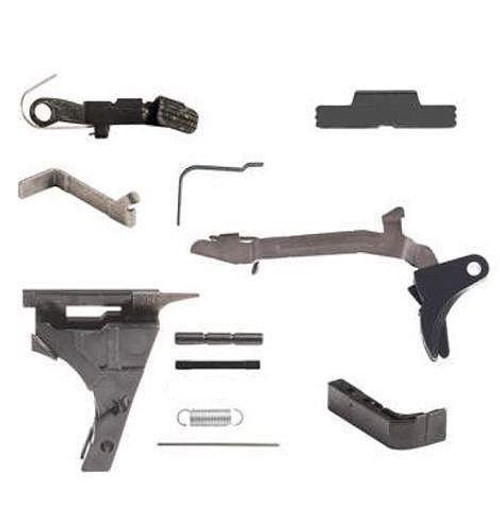 Package Deal Polymer80 PF940CL Black Compact Longslide 80% Pistol Frame Kit and 9mm OEM GLOCK® Lower Parts Kit