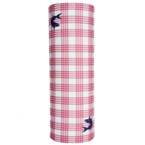 Sun Screen - Box Plaid Flamingo