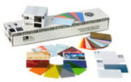 104523-132 Zebra color PVC card - silver metallic, 30 mil