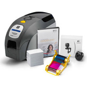 Z32-0000D200US00 Zebra QuikCard ID Solution with ZXP Series 3 dual-sided card printer, USB, CardStudio software, webcam, and Media starter kit (200 cards, 1 YMCKOK color ribbon)