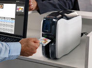 Zebra ZC100 Single Sided ID Card Printer  employee  id