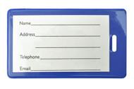 Brady 1845-2002 Blue Semi-Rigid Vinyl Luggage Tag Holder