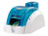 Pebble 4 Evolis Ocean Blue Single-Sided ID Card Printer w/ Smart