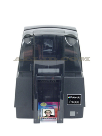 1-4E 10000-00 Polaroid P4000E Single-Sided Color ID Card Printer w/ USB