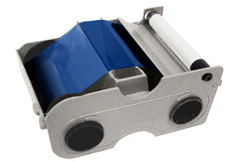 44203 Fargo Persona Blue Cartridge w/Cleaning Roller - 1000 images