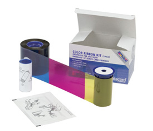 806124-106 Datacard Duplex Color Photo Ribbon CYMKT, w/ Topcoat for Select, Magna, & Ultima Card Printers - Yield: 95 Sides