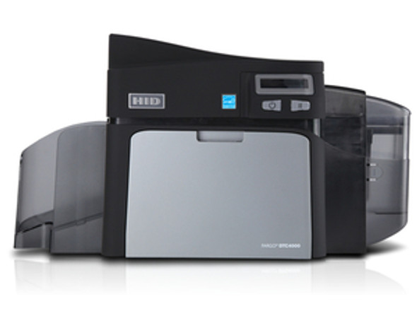 Fargo DTC4000 dual-sided card printer with magnetic encoder